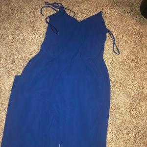 Blue jumpsuit romper